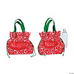 """Naughty"" & ""Nice"" Pouch Totes"