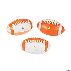 Orange Ribbon Footballs
