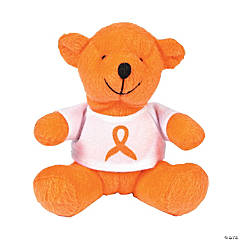 Plush Orange Ribbon Awareness Bears