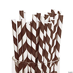 Brown Striped Straws
