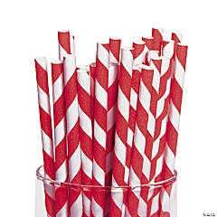 Red Striped Straws
