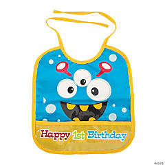 1st Birthday Mini Monsters Bib