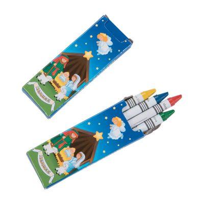 Religious Christmas crayons bulke