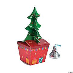 Christmas Tree with Gift Favor Boxes