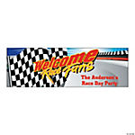 "Personalized Small ""Welcome Race Fans"" Banner"