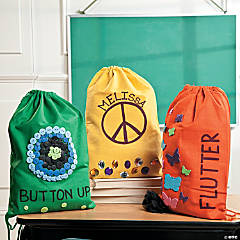 Decorated Neon Backpacks
