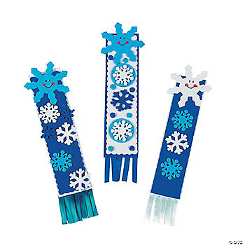 Snowflake bookmark craft kit for Bookmark craft for kids