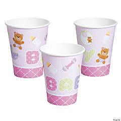 Teddy Baby Pink Baby Shower Cups