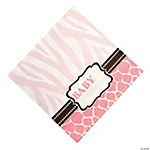 Wild Safari Pink Luncheon Napkins
