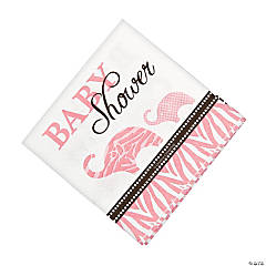 Wild Safari Pink Baby Shower Beverage Napkins