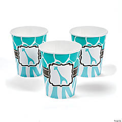 Wild Safari Blue Baby Shower Cups
