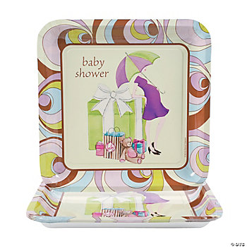 square dinner baby shower plates oriental trading discontinued