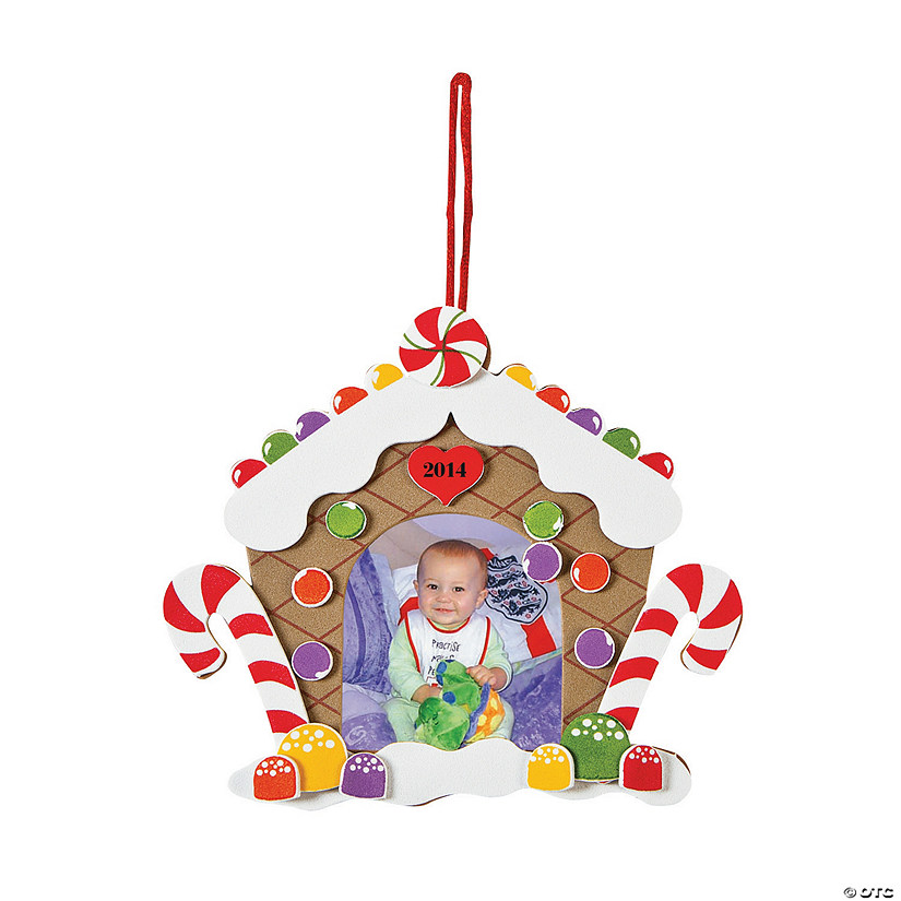 "2013"" Gingerbread House Picture Frame Christmas Ornament Craft Kit ..."
