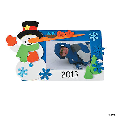 2013 snowman magnet picture frame craft kit oriental