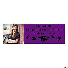 Large Purple Graduation Custom Photo Banner