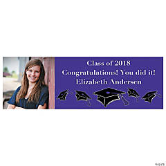 Medium Purple Graduation Custom Photo Banner