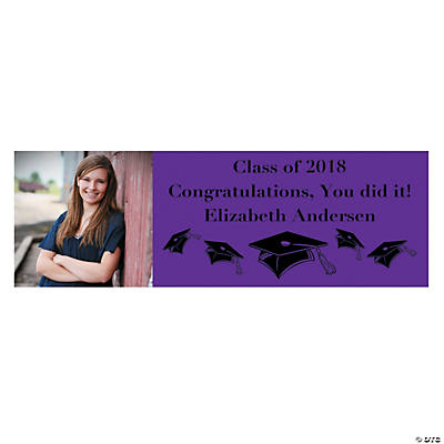 Small Purple Graduation Custom Photo Banner