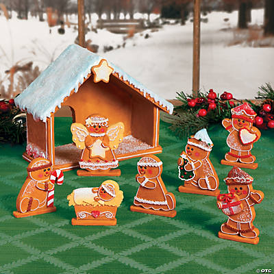 Gingerbread Nativity Set