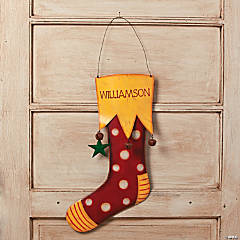 Personalized Large Jingle Bell Stocking