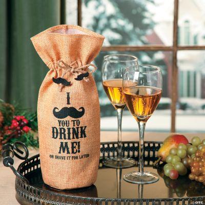 Mustache Bottle Bag