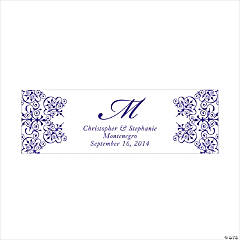 Personalized Medium Purple Monogram Script Banner