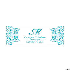 Personalized Medium Turquoise Monogram Script Banner