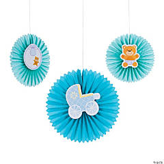 Teddy Baby Blue Hanging Fans