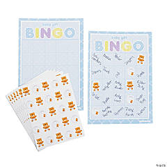 Teddy Baby Blue Baby Shower Bingo Game