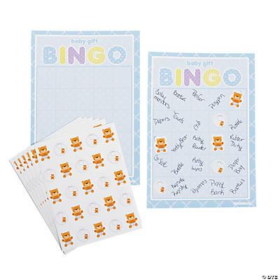teddy baby blue baby shower bingo game oriental trading