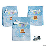 Teddy Baby Blue Favor Bags