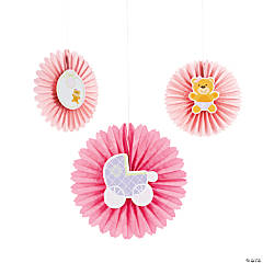 Teddy Baby Pink Hanging Fans