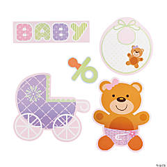 Teddy Baby Pink Cutouts