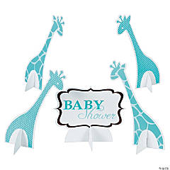 WIld Safari Blue Baby Shower Centerpieces