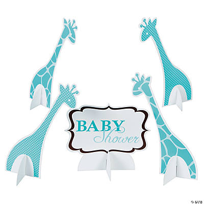 blue safari baby shower centerpiece