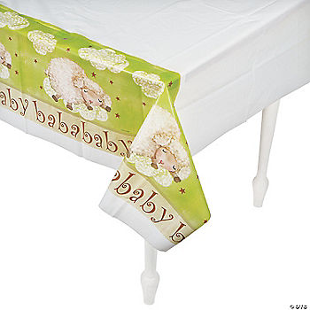 ba ba baby shower table cover oriental trading discontinued