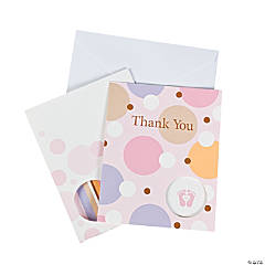 "Tiny Toes Pink ""Thank You"" Cards"