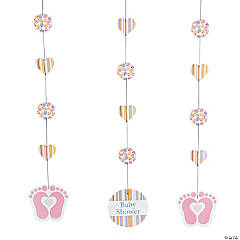 Tiny Toes Pink Hanging Cutouts