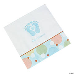 Tiny Toes Blue Luncheon Napkins