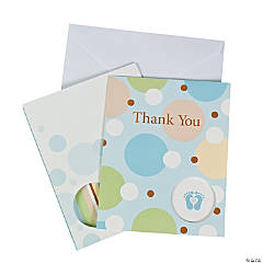 "Tiny Toes Blue ""Thank You"" Cards"