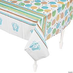 Tiny Toes Blue Table Cover