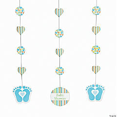 Tiny Toes Blue Hanging Cutouts