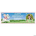 Small Pink Cowgirl Party Custom Photo Banner