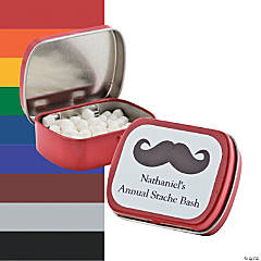 Personalized Mustache Mint Tins