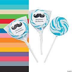 Personalized Mustache Swirl Pops