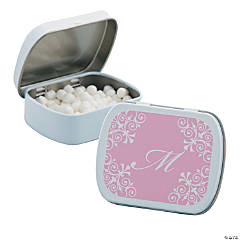 Personalized Light Pink Script Mint Tins