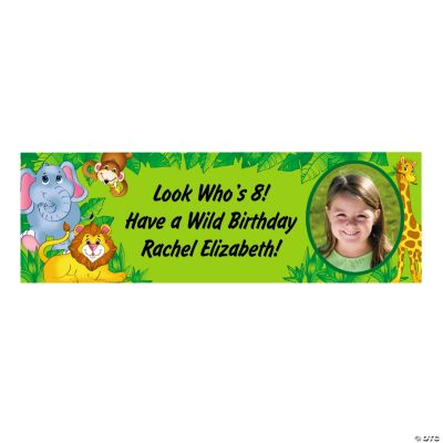 Small Zoo Animal Custom Photo Banner