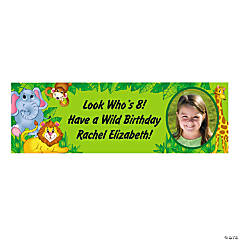 Small Zoo Animal Custom Photo Banner