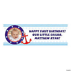 Small 1st Birthday Sailor Custom Photo Banner