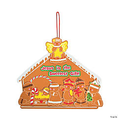 Gingerbread Nativity Sign Craft Kit