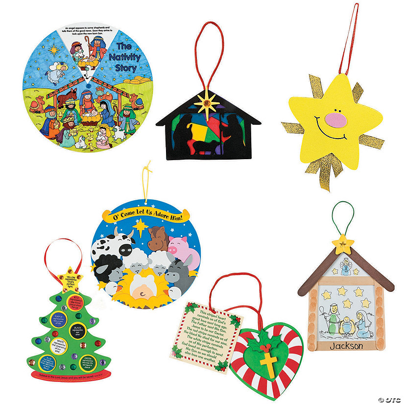 Religious Christmas Ornament: Religious Christmas Ornaments Classpack Mega Kit